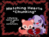 1st/2nd Grade Hearts Word Chunking Game and Wksts (IRLA 1B