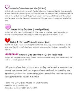 1st/2nd Grade Valentine's Day Math Packet