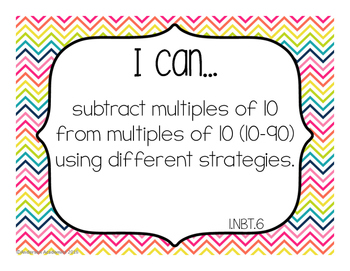 "1st Grade ""I Can"" Statements Bundle: All Standards - Rainbow Colors"