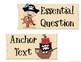 1stGrade Pirate Themed Focus Wall ELA  Essential Q's & Anchor text Cover photos