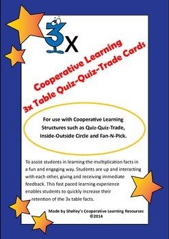 Quiz Quiz Trade  3x Times Table Cards