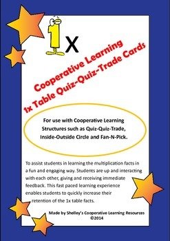Quiz Quiz Trade 1x Times Table Cards