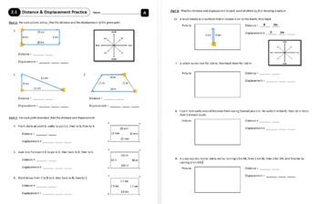 Lesson 2.1 - Distance & Displacement