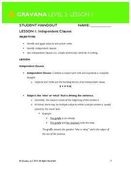 2.1- Independent Clauses
