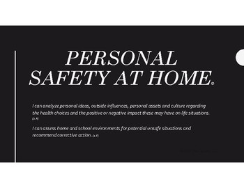 2.1 Personal Safety at Home