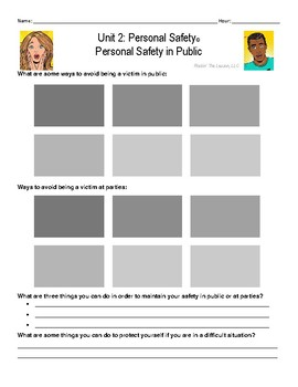 2.1 Personal Safety in Public Notes Page