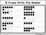 2 10 Frame Write the Number Worksheets. Preschool-KDG Math.