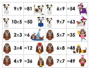 2-10 Multiplication Facts Sorting Activity and Game