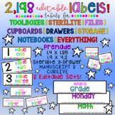 2,198 LABELS! Editable Color, B/W, Cursive, Manuscript. To