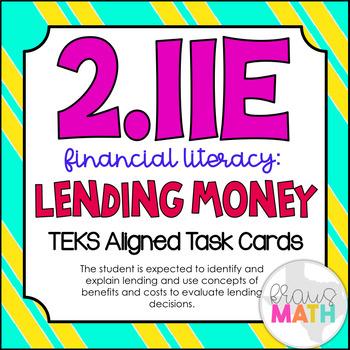 2.11E: Financial Literacy- Lending TEKS Aligned Task Cards