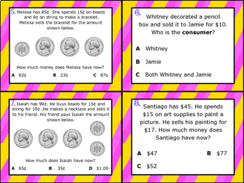 2.11F: Financial Literacy: Consumers & Producers TEKS Aligned Task Cards