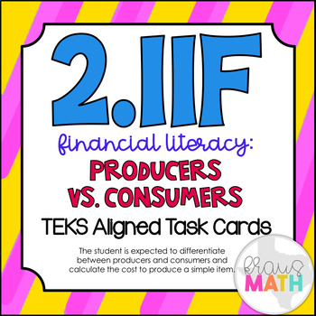 2.11F: Financial Literacy: Consumers & Producers TEKS Alig
