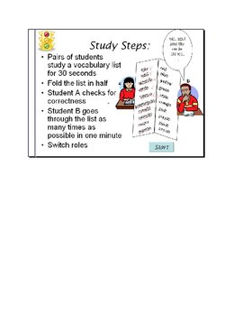 2 1/2- Minute Vocabulary Drill! Fast-Paced, Effective Study Tool