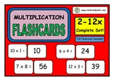 2 - 12 Times Table Flashcards Bundle Pack
