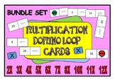 Times Table Multiplication Domino Loop Cards Bundle Pack