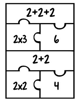 2-12 Times Tables Fluency Matching Puzzles