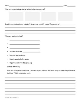 2.2 Bullying Notes Page