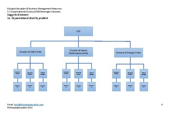 2.2 Organizational Structure/FAB Beverages Company
