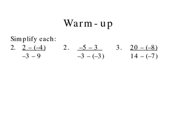 2-2 Slope of a Line