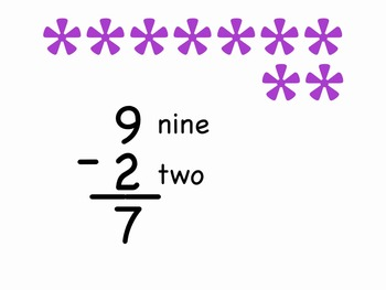 2-2 to 10-2 mp4 Sing-along from Subtraction Songs by Kathy Troxel