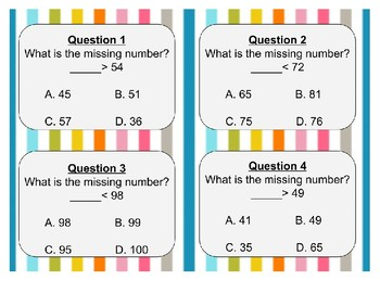 2.2D Comparing Numbers Task Cards