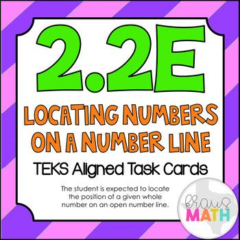 2.2E: Locating Numbers on a Number Line TEKS Aligned Task