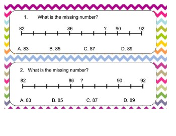 2.2F Identifying Missing numbers on a number line
