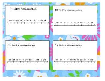 2.2F Missing Numbers on a Numberline