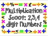 2,3,4 Digit Multiplication Scoot Activity - Differentiated