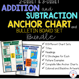 2 & 3-Digit Addition and Subtraction Anchor Chart and Bull