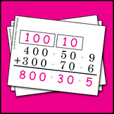 2 & 3 Digit Expanded Form Addition with Regrouping Strategy Cards