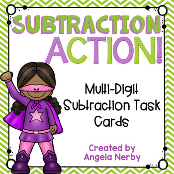 2 & 3 Digit Subtraction Task Cards