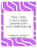 2 & 3 Digit Subtraction Test