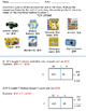 2-3 Digit x 1 Digit  Multiplication Worksheet with Area Mo