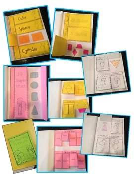 Interactive Geometry Notebook 2 & 3 Dimensional Shapes  (For Early Learners)