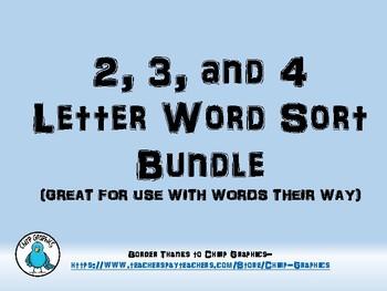 Words their Way Word Sort Bundle (2, 3, and 4 Columns)