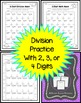 2, 3, and 4 digit long division practice math mazes