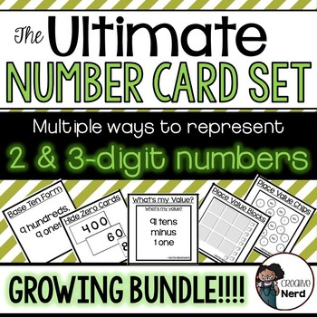 2 & 3-digit Number Cards (Print and Go cards with various representations)
