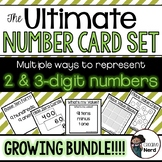 2 & 3-digit Number Cards - Print and Go cards for creative