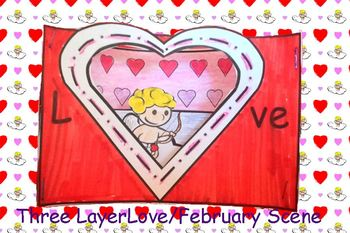 3 layer scenic views February and Love Art Project
