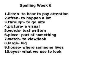 2-3rd Grade High Frequency Sight Words-16 Weeks