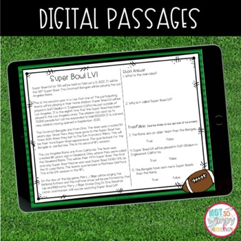 Football Close Read Passages