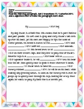 2-4-6 Writing Paragraphs That Pop
