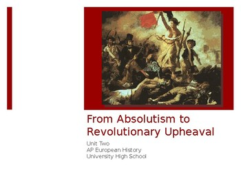 2.4 From Absolutism to Revolutionary Upheaval - Presentation