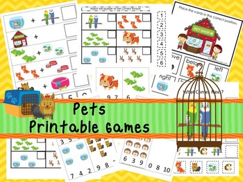 2,460 Printable Themed Educational Preschool Games and Worksheets in a ZIP file