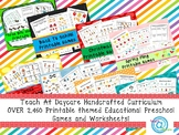 2460 Printable Themed Educational Preschool Games and Work