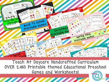 2,460 Printable Themed Educational Preschool Games and Wor
