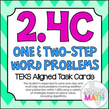 2.4C: Multi-Step Word Problems TEKS Aligned Task Cards (GRADE 2)