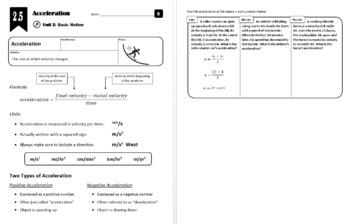 Lesson 2.5 - Acceleration