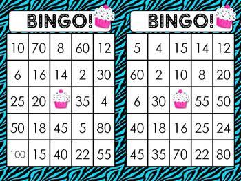2, 5 and 10 Times Table BINGO!